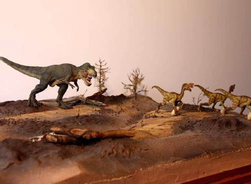 ティラノサウルス&ヴェロキラプトル