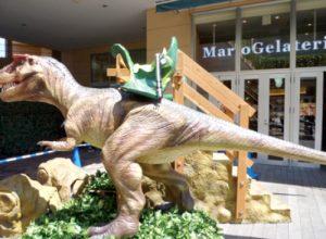 乗る恐竜ライド